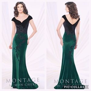 Montage by MonCheri velvet long gown